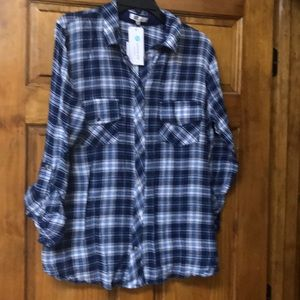 NWT KUT from the Kloth Flannel shirt